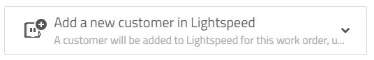 add a new customer in lightspeed
