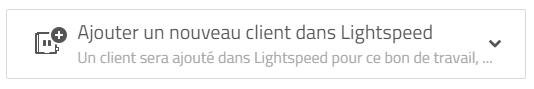 ajotuer un nouveau client dans Lightspeed