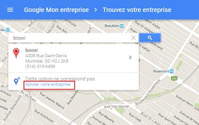 ajoutez votre entreprise sur google