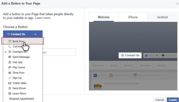 Facebook Book Buton