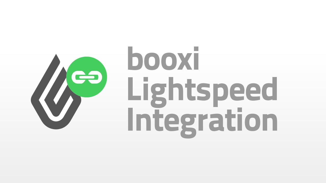 intégration entre booxi et Lightspeed