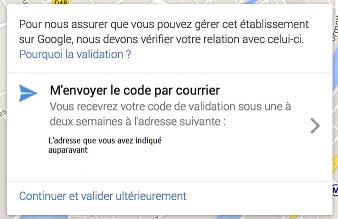 validez votre inscription avec le code