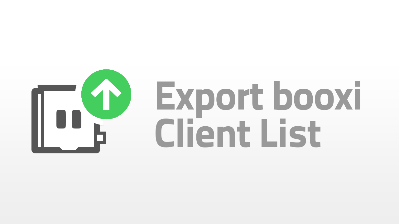 export your booxi client list