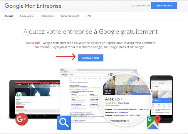 créez votre compte Google Mon Entreprise