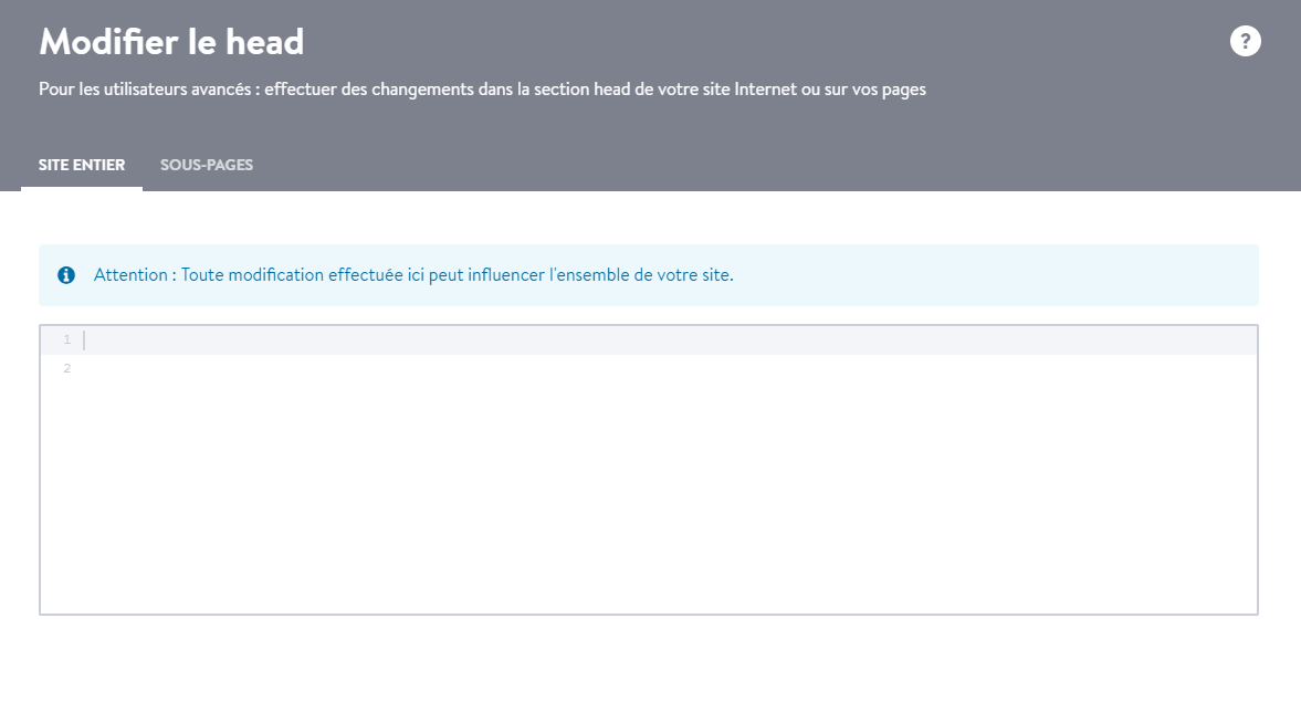modifier site web Jimdo