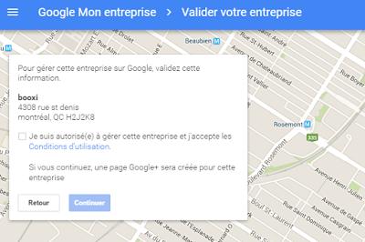 autorisez votre entreprise sur Google